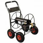 Carro profesional del carrete de la manguera, cuatro ruedas, capacidad de la longitud de los 75M (250F) para 3/4 manguera