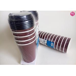 China Aucun label fait sur commande de tasses de café de papier d'ondulation de l'odeur 16oz dans l'enveloppe de rétrécissement on sale