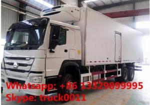 China 2017s CHINO TRUK HOWO 25tons refrigeró el camión con el refeer TERMO del rey en venta, el mejor camión de la cámara fría del precio HOWO 336hp on sale
