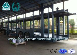 China Double Layer Car Transport Trailers Carbon Steel 2 Axles Car Carrying Trailers on sale