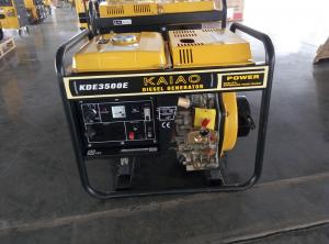 China Miniature Electric Start Diesel Generator 3000 Watt With Four Wheels / 17Ah Battery on sale