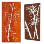 Laser cut bamboo corten indoor metal screens & water bubble wall