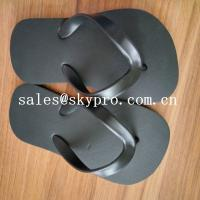 Comfortable Black Plain Flip Flops / Sandals Wear resistant Summer Beach Slippers