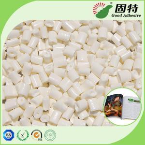 China Bookbinding Hot Melt Glue , Coated Paper EVA Milk White Hot Melt Glue Adhesive Pellets for Bookbinding on sale