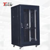Home Rolling 19 Inch Server Rack Radiation Protection Good Heat Dissipation