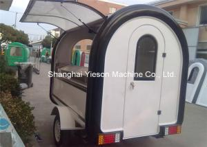 China Fiberglass Street Food Vending Carts , Mobile Kitchen Cart Catering Trucks on sale