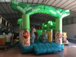 Inflatable forest animals jumping house PVC inflatable bounce Green inflatable monkey bouncy for kids under 12 years