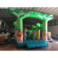 China Inflatable forest animals jumping house PVC inflatable bounce Green inflatable monkey bouncy for kids under 12 years on sale
