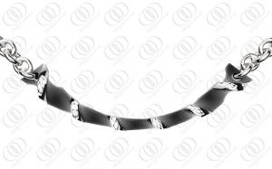 China Black Plated 316L Stainless Steel Necklace for Men , Fashion Pendant Necklaces on sale