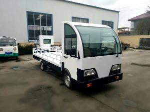 China Customized Electric Platform Truck , Enclosed Cab battery operated platform truck on sale