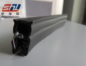 China Black Extruded Rubber Seal UV Resistance , EPDM Rubber Coextrusion Door Seal on sale