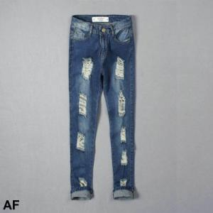 China Abercrombie fitch new styles woman frazzle jean brand denim jeans on sale