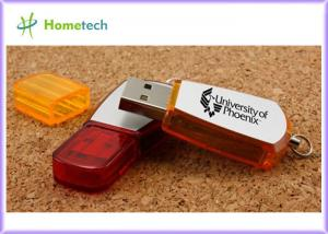China Red Plastic personalized usb flash drive , Office customized usb keys on sale