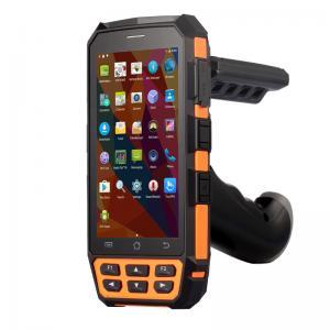 China Long Range Handheld RFID Reader Android 5.1.1 Bluetooth Barcode Scanner IP65 on sale