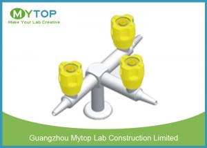 China Three Way Brass Lab Gas Taps Laboratory Fittings For Chemical Lab Bench on sale