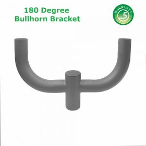 China 180 Degree Light Fixture Accessories Double Bullhorn Mounting Bracket Pole Adapter on sale