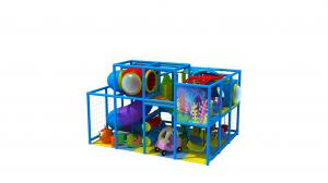 China Blue Mini Size Kids Indoor Playground Equipment For Small Space KP190724 on sale