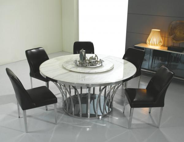 Italian Style Marble Dining Table , Round Marble Top Dining Tables ,  Expensive Dining Tables Images