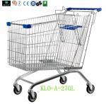 Caddies européens d'achat de supermarché pour les aînés 270L/les chariots achats en métal