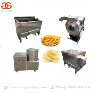 China Small Scale Semi Automatic Fryer Home Use Sweet Frozen French Fries Production Line Finger Potato Chips Making Machine on sale