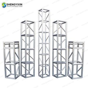 China Concert Lighting Tower Aluminum Structures/ Outdoor Portablestage truss,Truss system 390x390cm,global truss system on sale