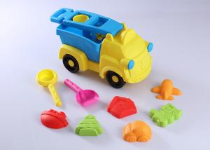 China 10 Pcs Hard Plastic Beach Sand Set Toys W / Vehicle Animal Molds Bucket Shovel 15  on sale