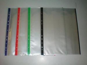 China 11 holes A4 PP Color  Sheet Protector Page Protector for office documents on sale