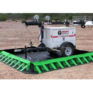 China Customized Color Portable Spill Berm , Temporary Containment Berms 0.7 0.8mm Thickness on sale