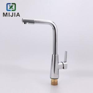 China Deck Mounted Kitchen Sink Faucets , Contemporary Four Hole Kitchen Faucet on sale