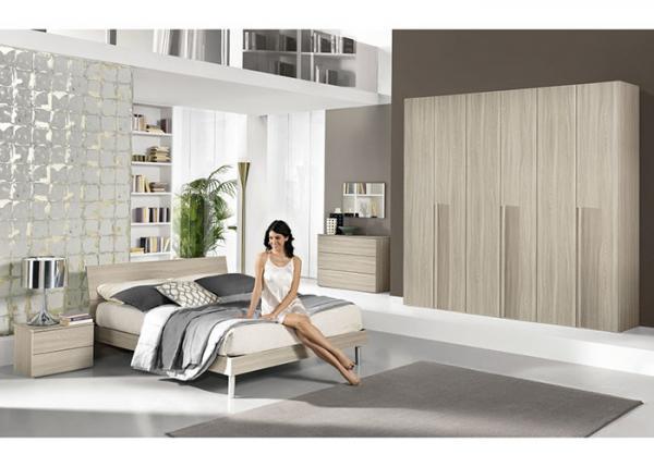Simple Style Wooden Bedroom Furniture Sets 6 Door Wardrobe ...
