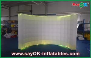 China Inflatable Party Decorative Air Wall , Curved Lighting Inflatable Photobooth on sale