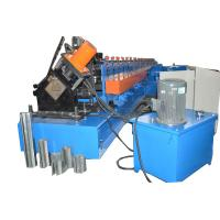 Chain Drive Galvanized Steel Plate Rolling Machine 8 Tons For Storage Rack
