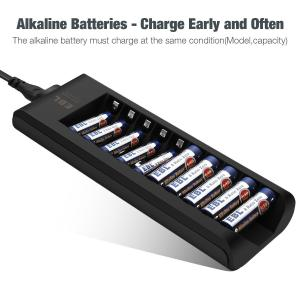 Quality 200mA Input Rechargeable Battery Charger 10 Slot With Smart LED Indicators for sale