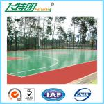 ISO Acrylic Sports Surfaces Recycled Flooring Materials Environmental Friendly