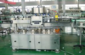 China Square Jar / Oil Bottle Double Side Sticker Labeling Machine Fully Automatic on sale