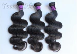 China Natural Black Soft Peruvian Body Wave Virgin Hair For Dream Girl on sale
