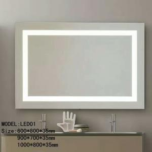 Bluetooth Hotel Bathroom Mirror Led Backlit Mirror With Border For