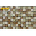 Interior Non Slip Roof Glass Ceramic Mosaic Tiles With 15 × 15mm Chip Size