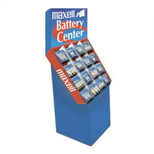 China Cardboard Magazine Display holder , Blue / Red Paper DVD Display Showcase on sale