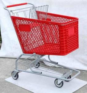 China Plastic Trolley, American Type Shopping Cart, Supermarket Trolley ,Shopping Trolley ,Hand Trolley on sale