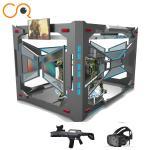 Multiplayer shooting 9d vr flight game experience center 9d vr simulator