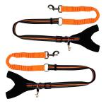 Fashion Custom Bungee Elastic Extended Retractable Nylon Braided Rope Dog Leash