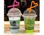 16oz 500ml Plastic Bubble Disposable Smoothie Cups For Juice
