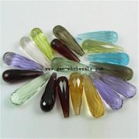 Wholesale loose faceted semi-precious stone
