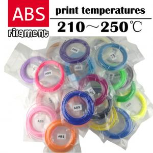 China wholesale 3d pen plastic ABS1.75mm 3D Printer Filament Materials (5/10Meters/color total 100M) and (10M/color total 200M on sale
