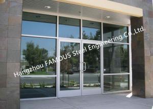 China Modern Commercial Decorative Soundprrof Glass Door Swing Aluminum Frame Glass Door For Sale on sale