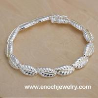 Wholesale Charming Feather Silver jewelry Bracelets
