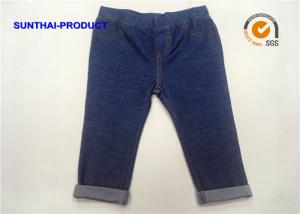 China Blue Baby Boy Denim Pants , Toddler Boy Bottoms With Front Pocket / Back Pocket on sale