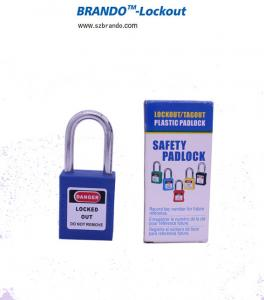 China colorful short stainless steel  shackle ABS lock body lockout padlock on sale