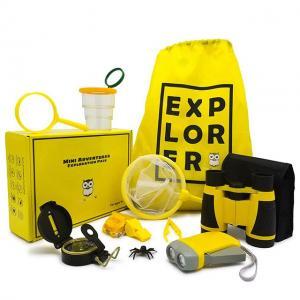 China Mini hot sales adventurer exploration kit- Binoculars, Flashlight, Magnifying Glass, Whistle, Compass, Butterfly on sale